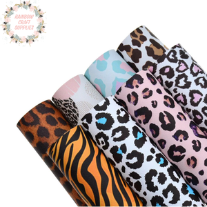 Animal printed  assorted leatherette fabric collection