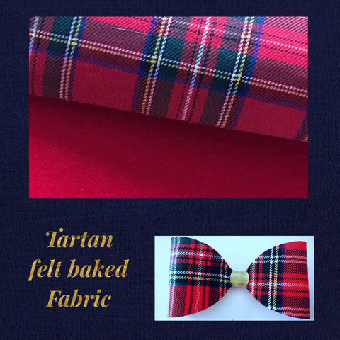 Tartan felt backed fabric A4