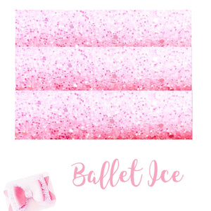 Ballet pink ice chunky glitter fabric A4