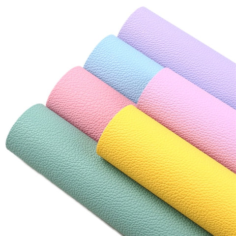 Spring colours leatherette fabric 6 piece set 34 x 21 cm