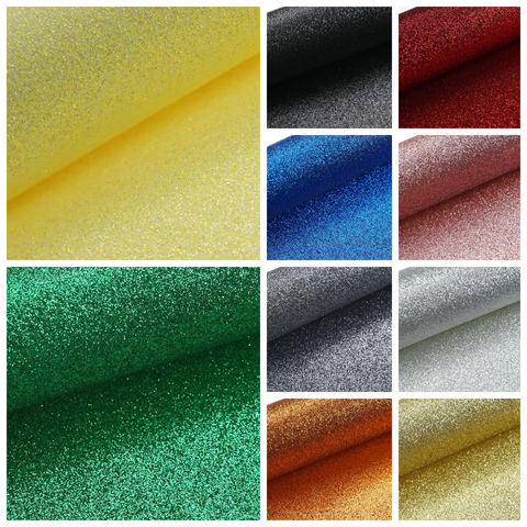 Fine glitter fabric A4 various colours available