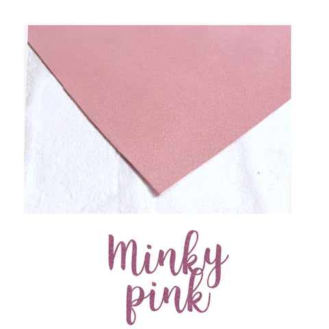 Dusky pink suedette fabric A4