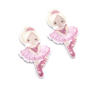Ballet dancer laser cut flat back embellishments x 4