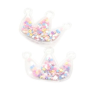 Sequin filled crown embellishments 65mm