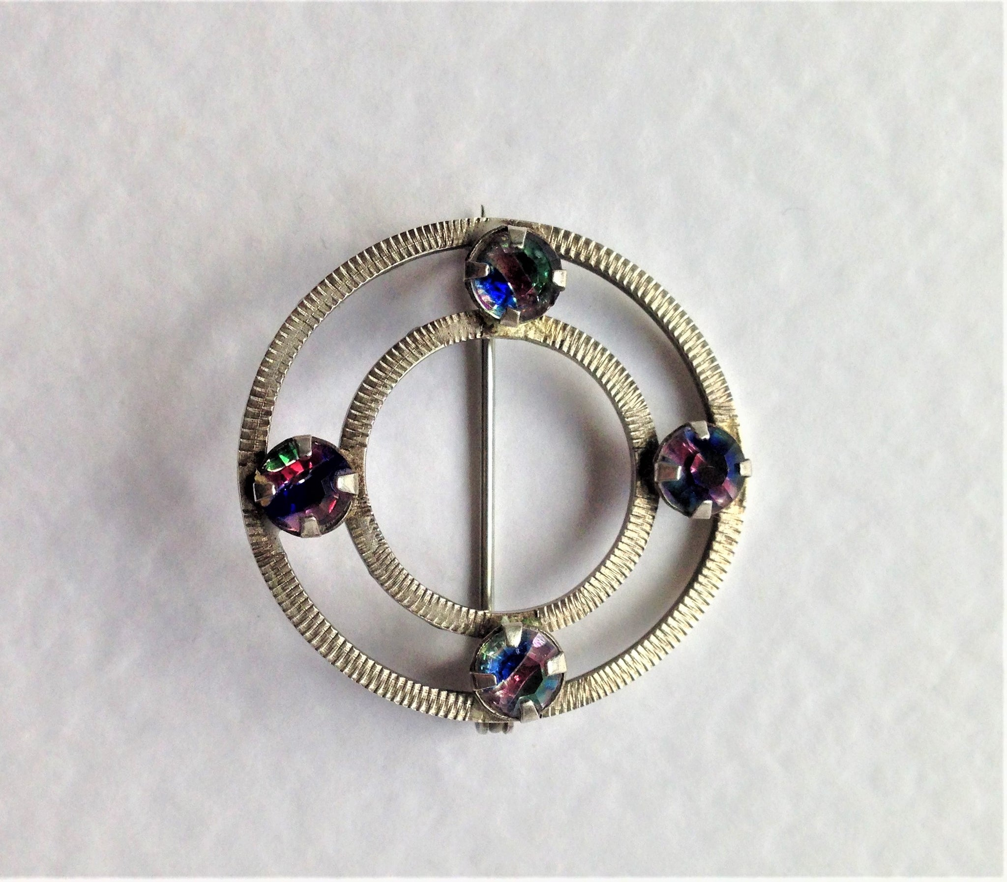 purple jewellery dior cabochon blue clarice set pin vintage costume brooch couture glass christian