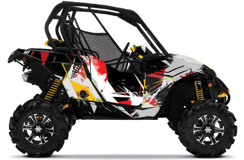 Blasted UTV Wrap Can-Am Maverick
