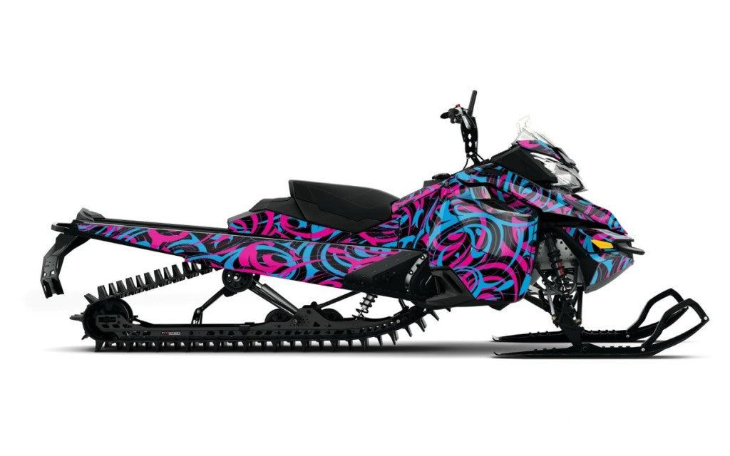 Chaffin-13 sled wrap for ski-doo xm from Toyskinz.