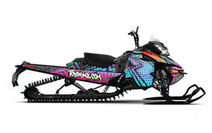 Chaffin-14 sled wrap design from Toyskinz for Ski Doo XM.