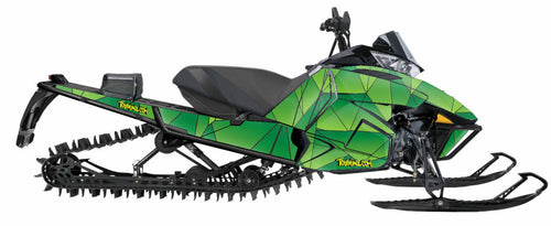 The Toyskinz Geo sled wrap for Arctic Cat Proclimb.