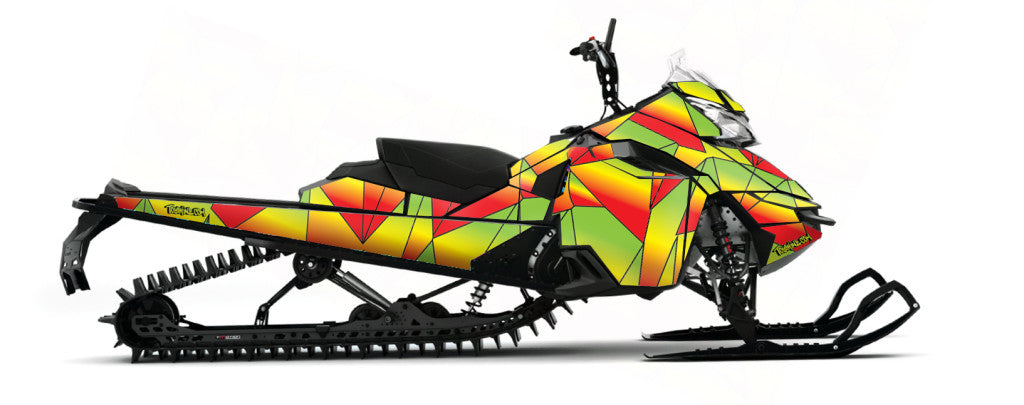 Geo sled wrap for skidoo xm from Toyskinz.