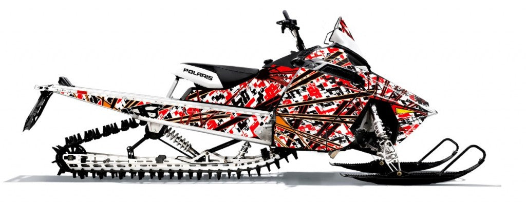 Nixon sled wrap for Polaris RMK Pro from Toyskinz.