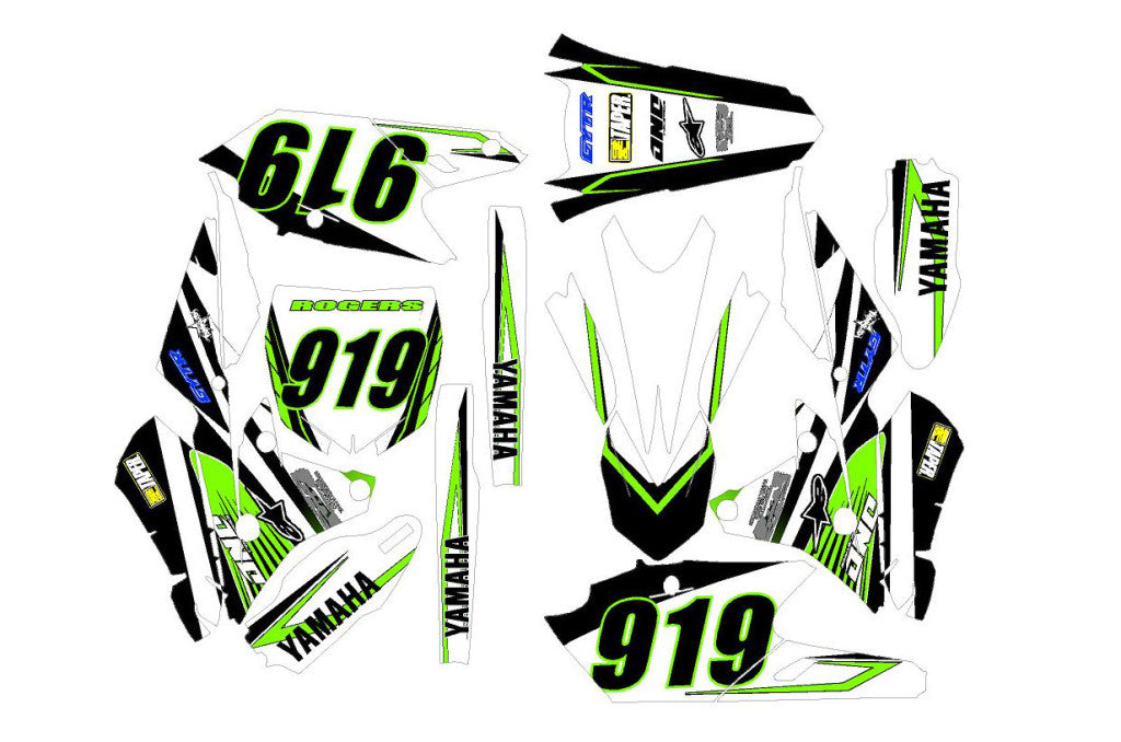 Grove Dirt Bike Wrap for Yamaha