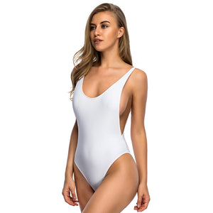 One Piece Backless Swimsuit With Sexy Thin Straps