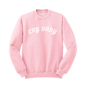 'Cry Baby' Crew Neck Sweatshirt