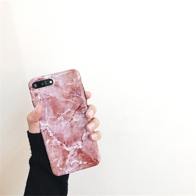 ROSE MARBLE IPHONE CASE