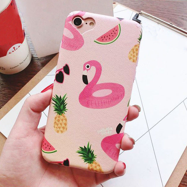 FRUIT & FLAMINGO IPHONE CASE