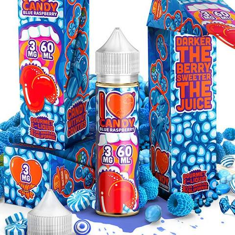 MAD HATTER- I Love Candy Blue Raspberry (60ML) - VapeClouds.com