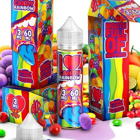 MAD HATTER- I Love Candy Rainbow (60ML) - VapeClouds.com