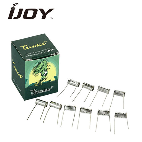 iJoy Tornado TSS (Notch) Prebuilt Coils 3.5mm (Pack of 10) Also Compatible with Other RDA / RDTA / RTA
