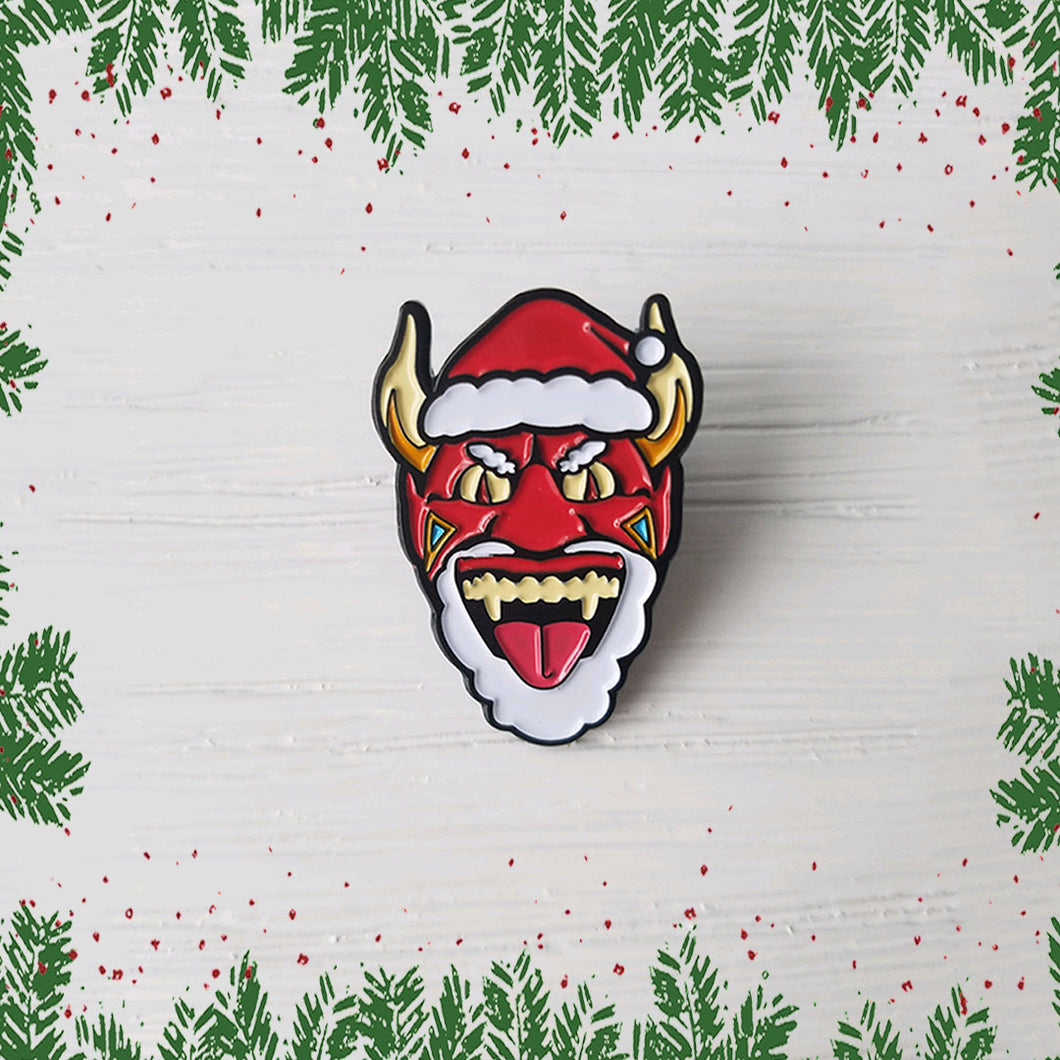 DEVIL SANTA HOLIDAY ENAMEL PIN
