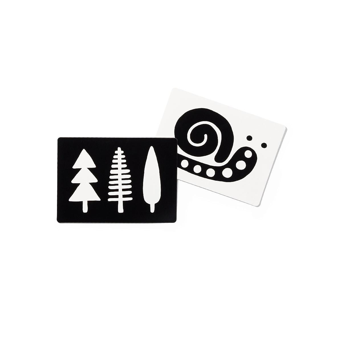 black and white card set two cards