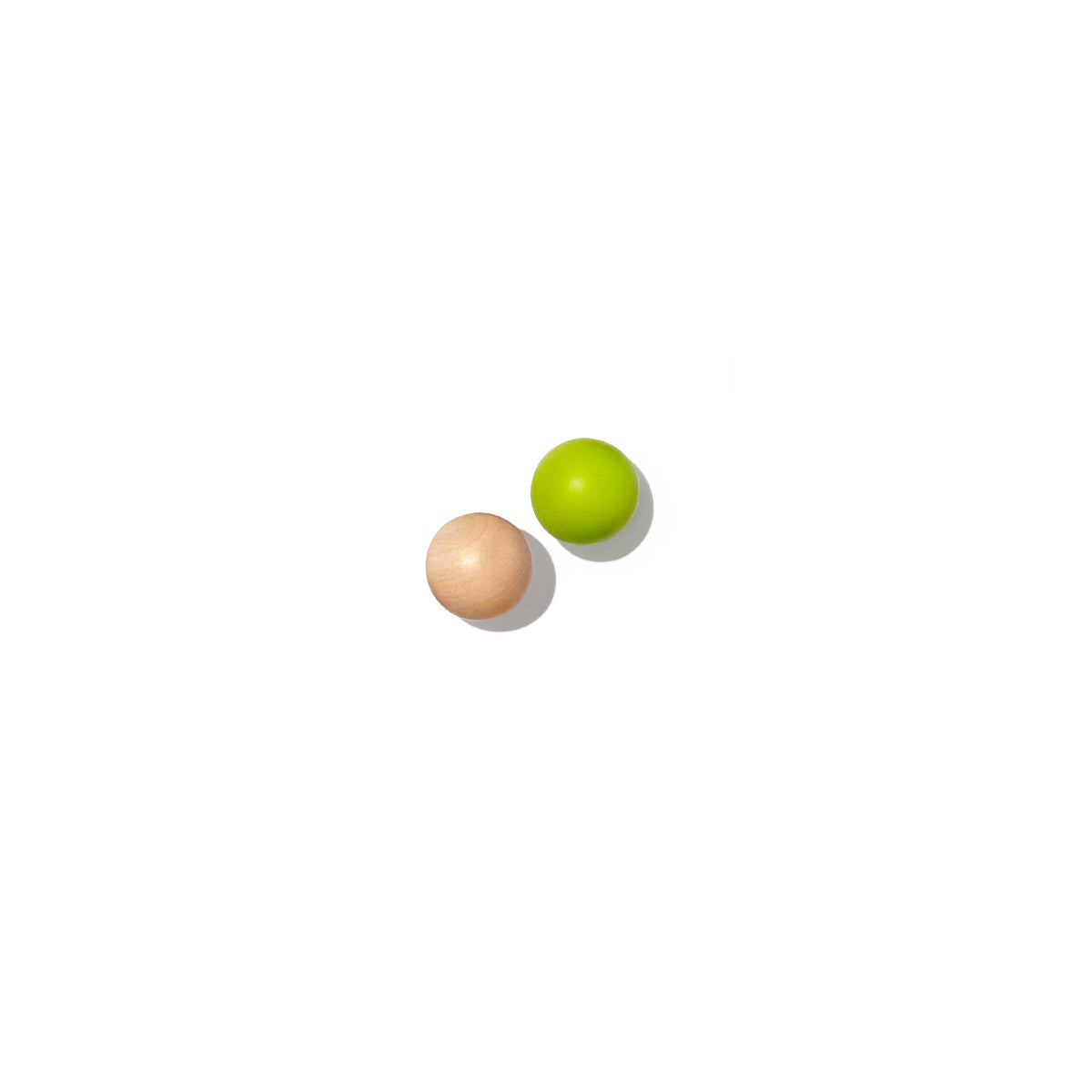 two wooden balls