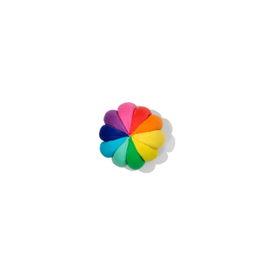 colourful flowery shaped cotton ball