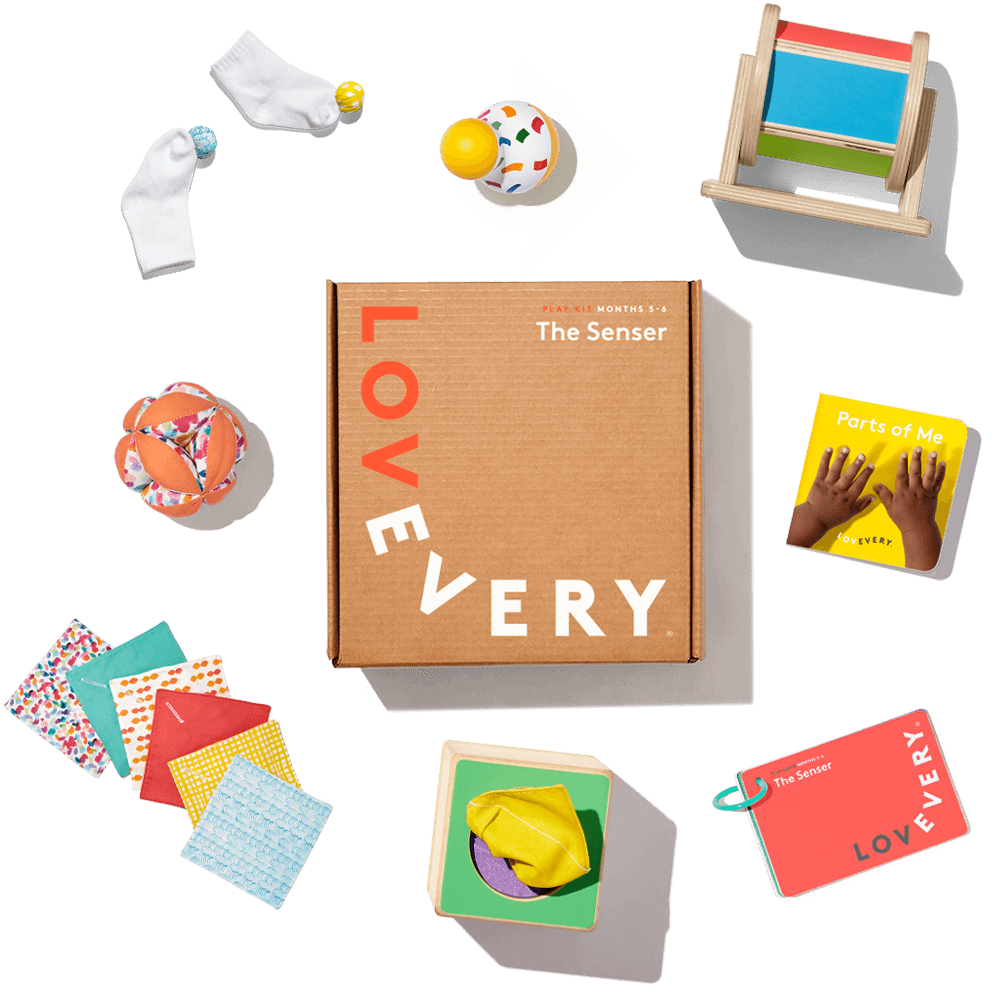 play kit with contents surrounding