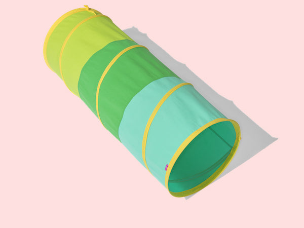 cotton green and yellow tunnel round