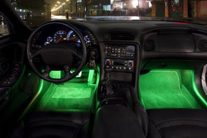 2 Piece High Quality Interior Footwell Trunk Light Strips Under Dash Kit