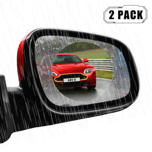 TRUE LINE Automotive 2 Piece Anti Fog Rainproof Coating Car Rear View Side Mirror Protective Film Rain Shield DIY Kit