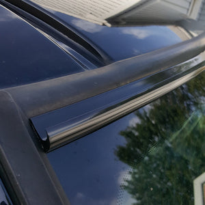 DIY Black Automotive Windshield Rain Gutter Guard Deflector Strip