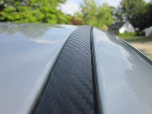 Saab 9-2X 2005-2007 Black Carbon Fiber Roof Molding Trim Kit