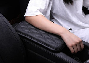 TRUE LINE Automotive Soft Leather Car Center Console Armrest Elbow Cushion Comfort Pillow Pad