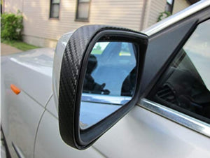 Fiat 500X 2016-2017 Black Carbon Fiber Mirror Molding Trim Kit