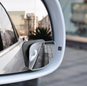 TRUE LINE Automotive 2 Piece Wide Angle Mirror Blind Spot Mirror Kit 360 Degree Adjustable Safety Stick on