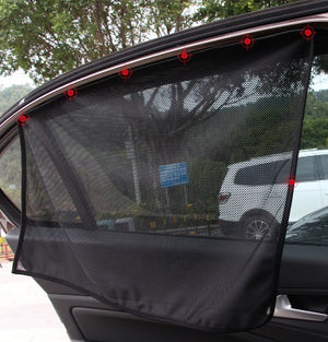 Smart Fortwo 2008-2015 Window Sun Shade Tint Mesh Magnetic Visor UV Protection