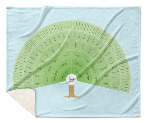 Family Tree Plush Fleece Blanket
