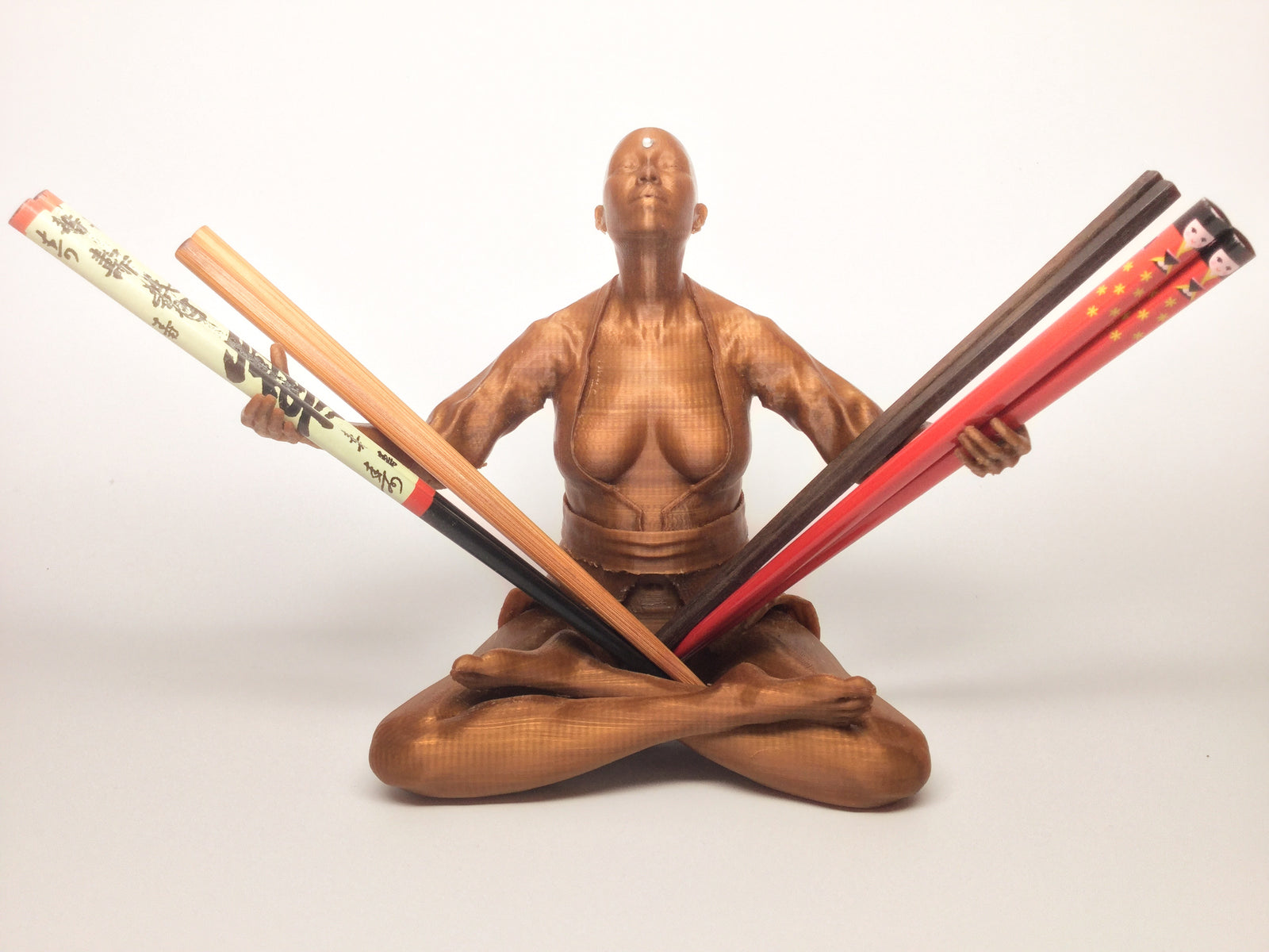 Chopstick Holder Sculpture - Bald with Bindi