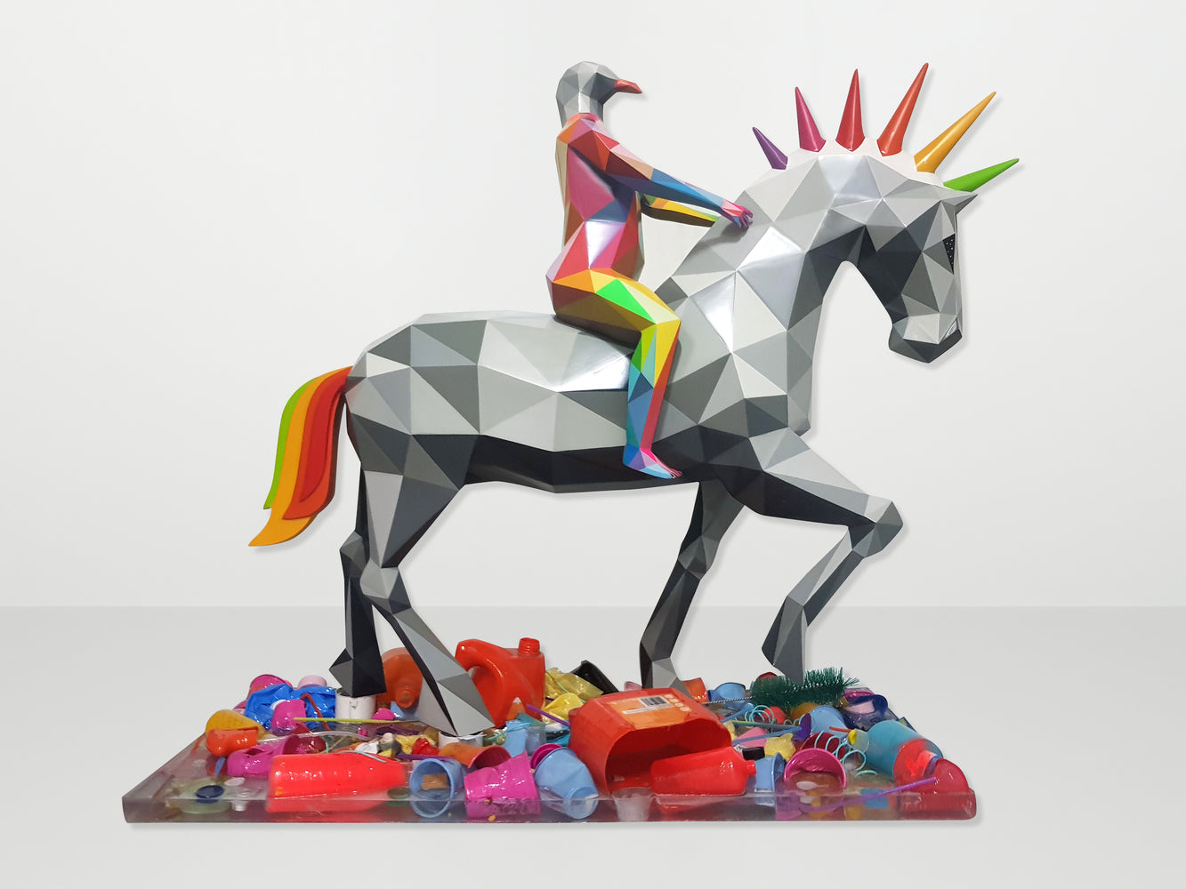 "Okuda San Miguel: ""Eagle Knight of the Trash River"""
