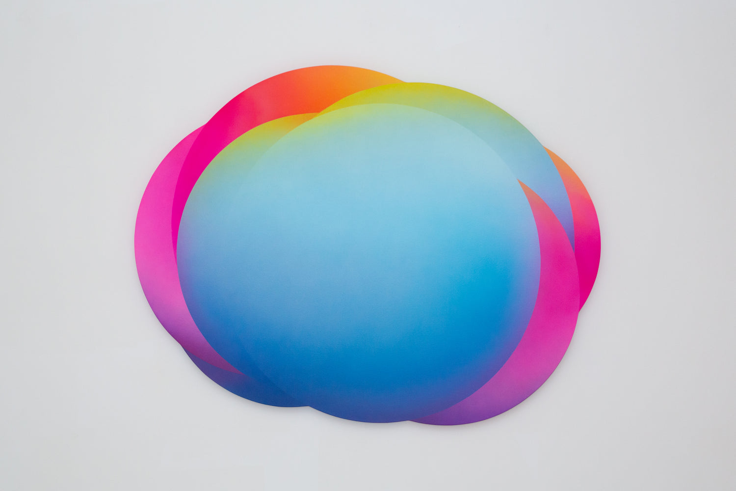 Jan Kálab: Blue Rainbow Cloud 0128pm, 2018