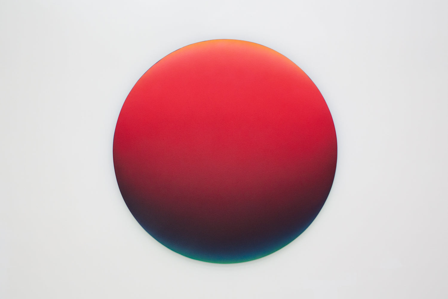 Jan Kálab: Red Gradient 1242pm, 2018