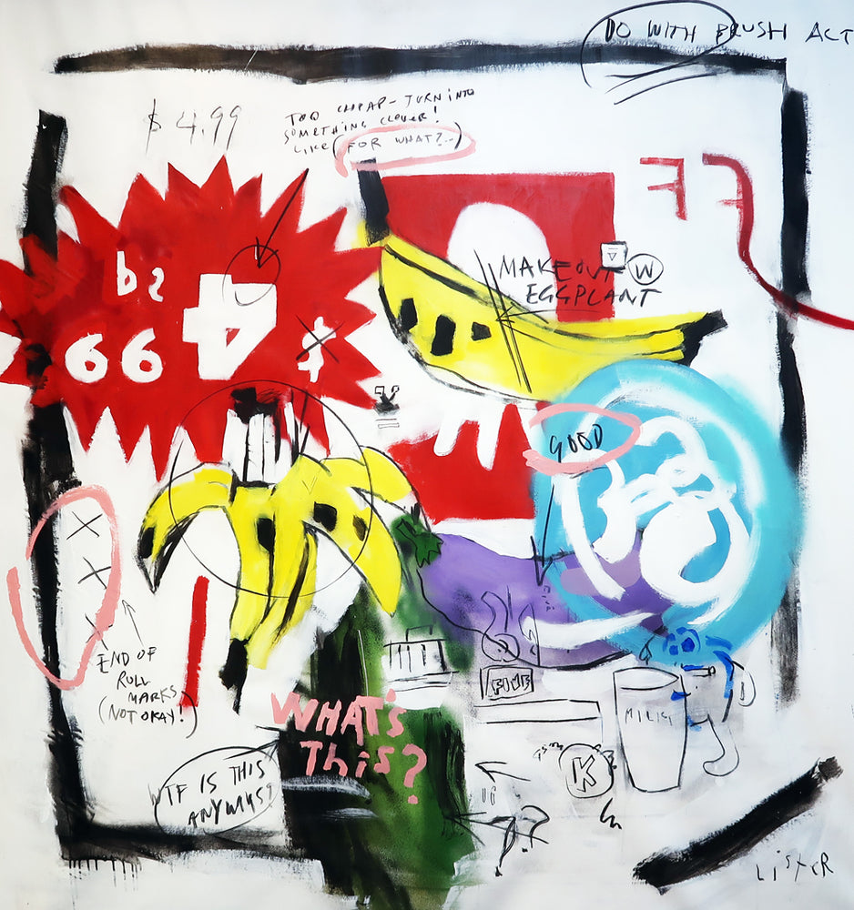 Anthony Lister: BANANAS 1984 / Homage to Andy Warhol and Jean Michel Basquiat