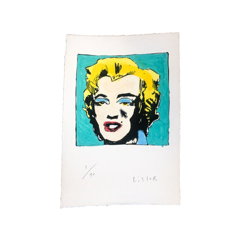 Anthony Lister: Marilyn Screen Print (TEAL)