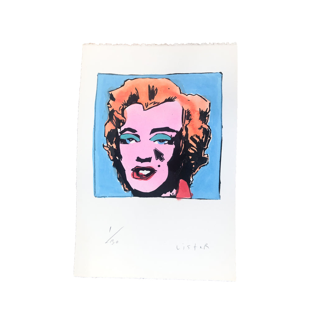 Anthony Lister: Marilyn Screen Prints Set of 4