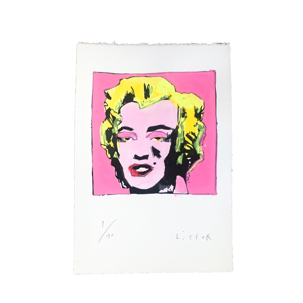 Anthony Lister: Marilyn Screen Print (PINK)