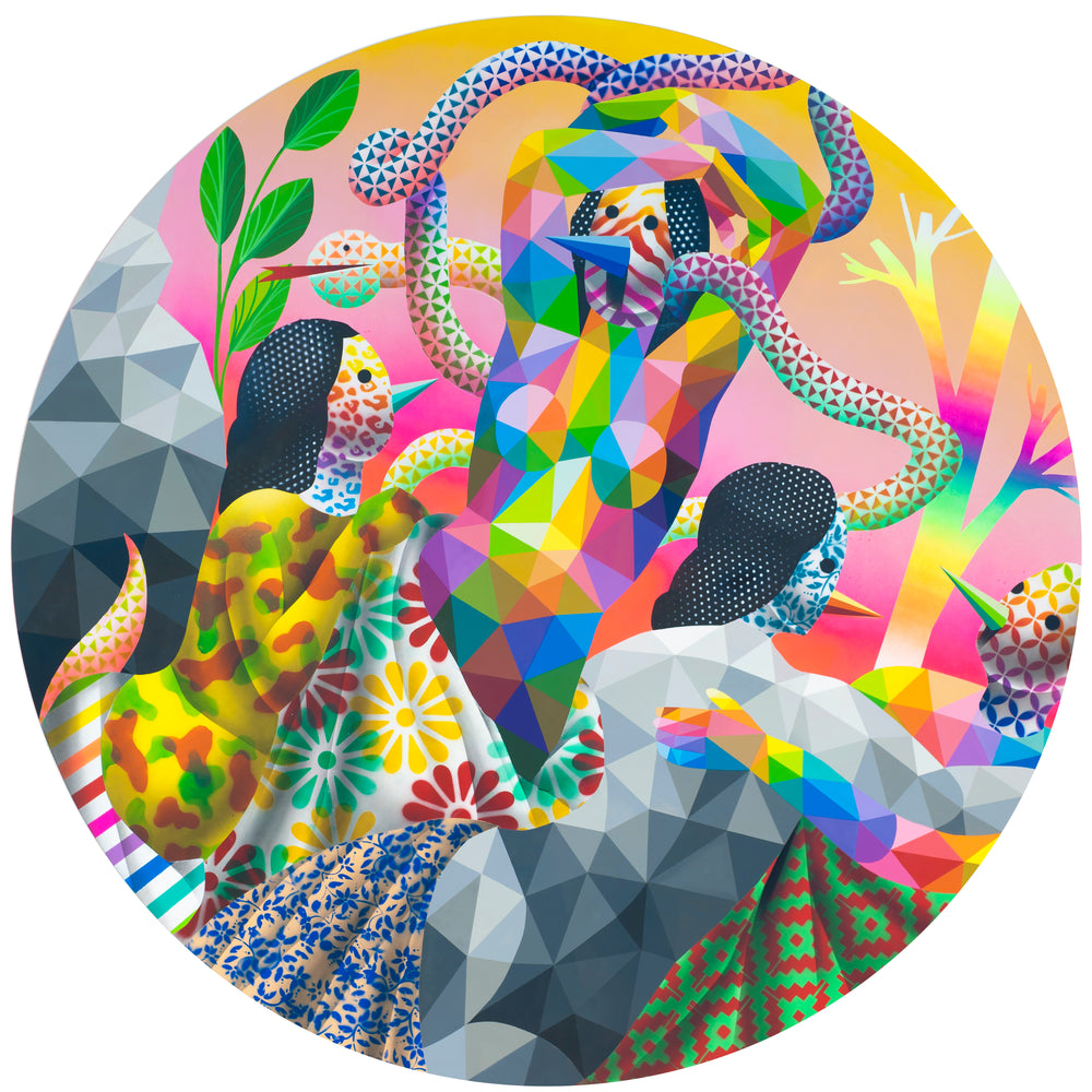 "Okuda San Miguel: ""Magic Dance with the Snake"""