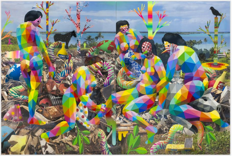 "Okuda San Miguel: ""Royal Family of the Plastic Island"""