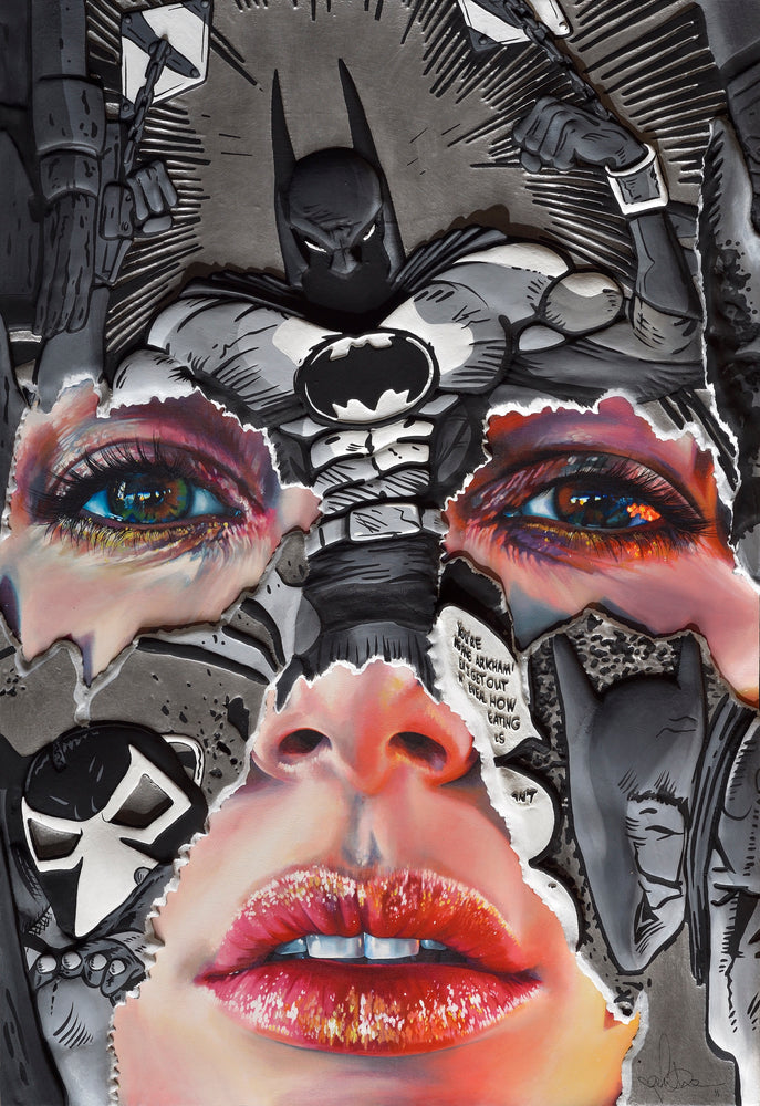 Sandra Chevrier: The Cage between Freedom and Captivity (Pewter, Black and White Hand Embellished)