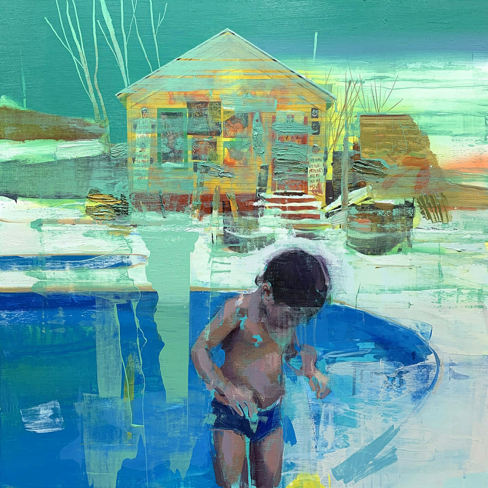 Jose Luis Ceña: Winter Pool_ American Dream
